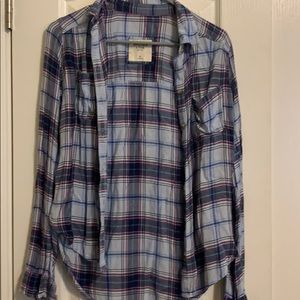Abercrombie and Fitch plaid button up, size XS.